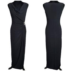 NWOT Ralph Lauren Evening Jersey Cowl Neck Dress